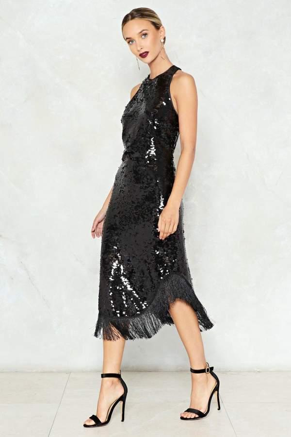 nastygal Flashback Sequin Midi Dress