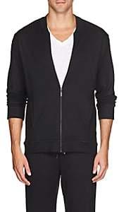 Hanro Men's Stretch-Jersey Zip-Front Sweatshirt - Black