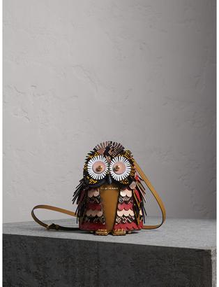 Burberry The Owl - Calf Suede and Snakeskin Crossbody Bag $4,295 thestylecure.com