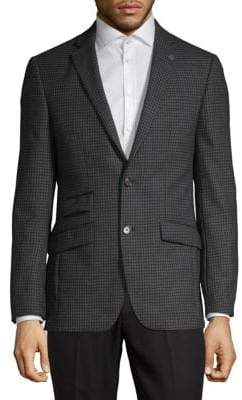 Ted Baker No Ordinary Joe Plaid Wool Blazer