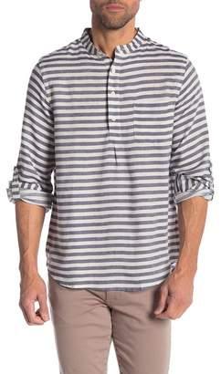 Onia Ian Popover Stripe Regular Fit Shirt
