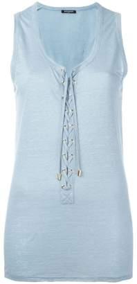 Balmain lace-up vest top