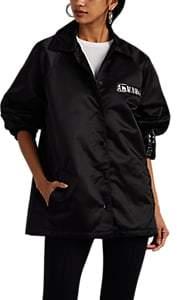 Women's Logo Coach's Jacket - Black