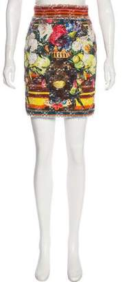 Dolce & Gabbana Printed Mini Skirt