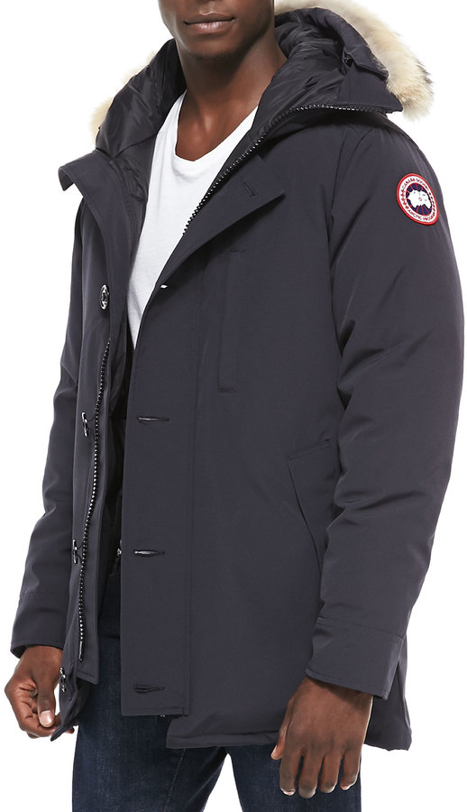 Canada Goose Chateau Parka w/Fur Trimmed Hood, Navy 5