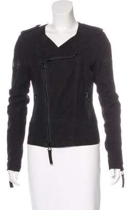 Thomas Wylde Suede Embellished Jacket
