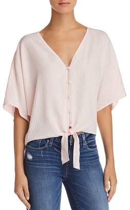 Paige Baylee Tie-Front Striped Top - 100% Exclusive