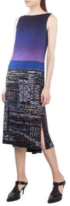 Akris Punto Twilight Print Midi Dress