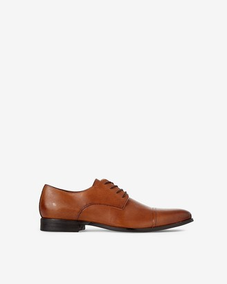 Express Leather Cap Toe Oxford Dress Shoe