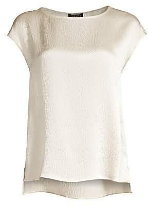 Escada Women's Nerodari Hammered Silk Cap Sleeve Shell