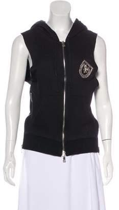 Balmain Zip-Up Hooded Vest