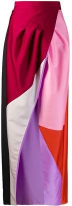 Fausto Puglisi colour block maxi dress