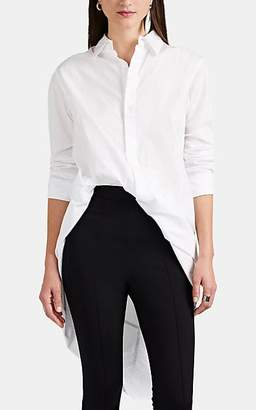Yohji Yamamoto Regulation Women's Cotton Poplin High-Low Blouse - White