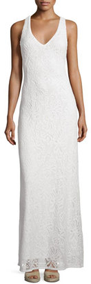 Lilly Pulitzer Aster Knit Lace Racerback Maxi Dress, White $198 thestylecure.com