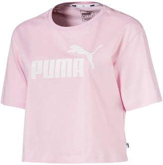 Puma Womens Essentials Cropped Logo Tee