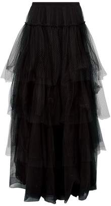 Burberry Tiered Tulle Maxi Skirt