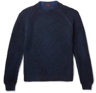 Altea Mélange Cable-Knit Virgin Wool Sweater