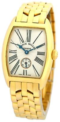 """Franck Muller Cintree Curvex"""" 18K Yellow Gold Silver Dial 25mm Womens Watch"""