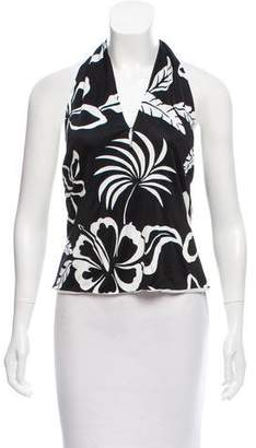 Ralph Lauren Black Label Floral Print Halter Top