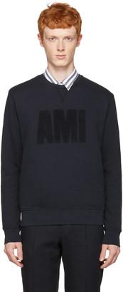 AMI Alexandre Mattiussi Navy 'Ami' Pullover $255 thestylecure.com