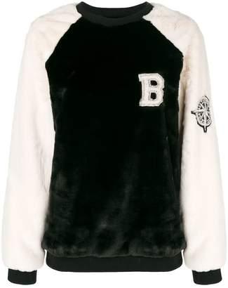 Balmain furry textured jumper
