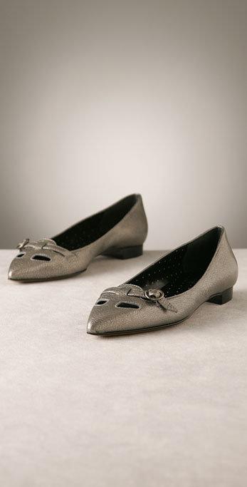 Moschino Cheap and Chic Shoes Metallic Flat