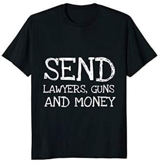 Warren Zevon Send Lawyers Guns and Money Music Shirt