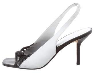 Diane von Furstenberg Slingback Peep-Toe Pumps