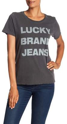Lucky Brand Logo Graphic Tee