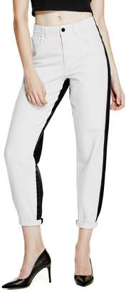 GUESS Originals Relaxed High-Rise Two-Tone Jeans $98 thestylecure.com