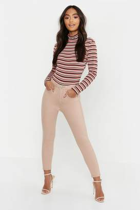 boohoo Petite High Rise Skinny Jean