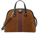Gucci Ophidia Suede Dome Satchel