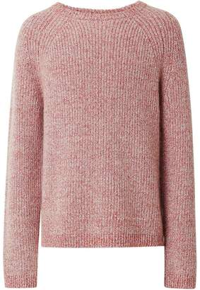 Burberry Rib Knit Cashmere Cotton Blend Sweater