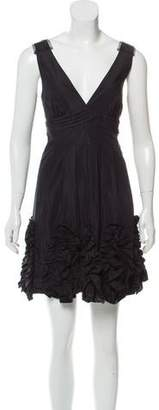 BCBGMAXAZRIA Ruffle-Hem Mini Dress w/ Tags