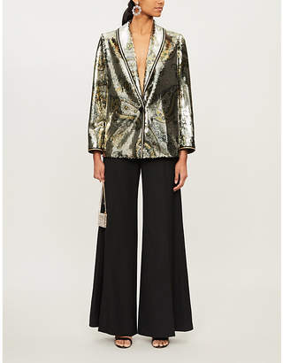 Etro Cheshire abstract-print sequinned blazer