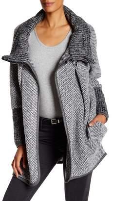 Luma Wool-Blend Sweater Coat