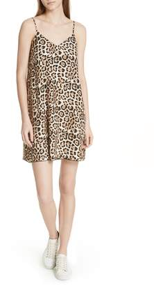 ATM Anthony Thomas Melillo Leopard Print Silk Slipdress