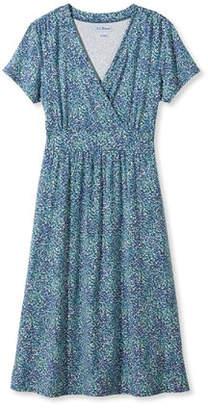 L.L. Bean (エルエルビーン) - サマー・ニット・ドレス、半袖 マルチ・フローラル・プリント