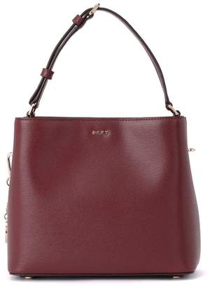 DKNY Bryant Red Leather Bucket Bag