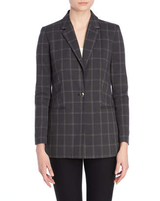 T Tahari Poala Windowpane Jacket