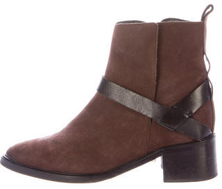 AllSaints Suede Pointed-Toe Ankle Boots $65 thestylecure.com