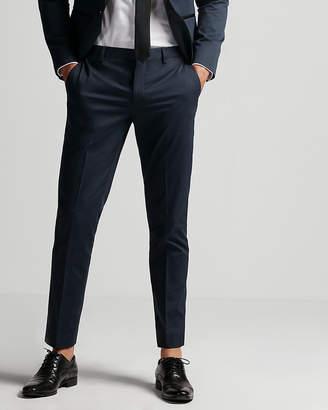 Express Extra Slim Blue Satin Accent Tuxedo Pant
