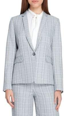 Tahari Arthur S. Levine Plaid Flap-Pocket Jacket