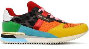 Dolce & Gabbana Paneled Canvas, Suede And Leather Sneakers