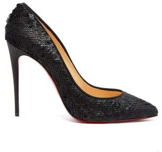 Christian Louboutin Pigalle Follies 100 Sequin Embellished Pumps - Womens - Black