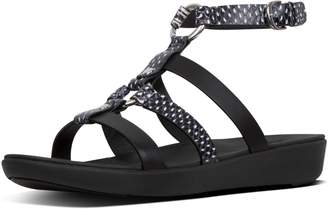 FitFlop Hoopla Dotted-Snake Leather Gladiators