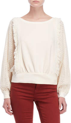 Free People Faff Fringe Pullover Sweater