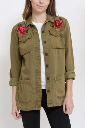 Sneak Peak Patched Military Jacket