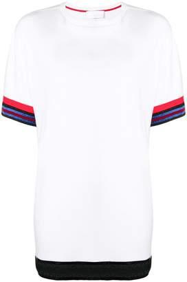 NO KA 'OI No Ka' Oi contrast trim longline T-shirt