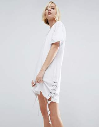ASOS T-Shirt Dress With Lace Up Sides $40 thestylecure.com